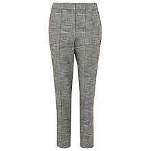 Buy Whistles Check Slim Trousers, Grey Online at johnlewis.com