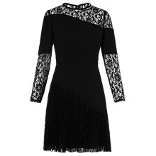 Buy Whistles Lois Pleated Dress, Black Online at johnlewis.com