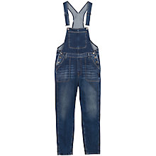 Buy Fat Face Denim Worker Dungarees, Denim Online at johnlewis.com