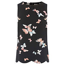 Buy Oasis Butterfly Scallop Top, Multi Online at johnlewis.com