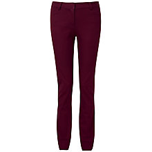 Buy Pure Collection Elle Straight Leg Jeans, Winter Berry Online at johnlewis.com