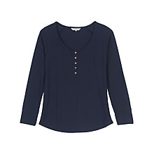 Buy Fat Face Avebury Rib Henley, Navy Online at johnlewis.com