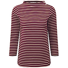 Buy Pure Collection Liliana Button Shoulder Top, Merlot/Sand Online at johnlewis.com