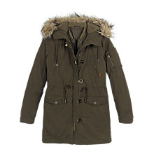 Buy Fat Face Penrith Premium Parka, Khaki Online at johnlewis.com