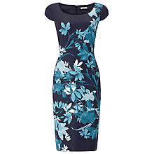 Buy Jacques Vert Bali Floral Print Dress, Multi Navy Online at johnlewis.com