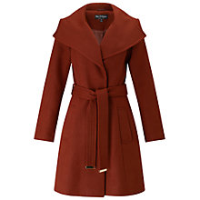 Buy Miss Selfridge Wrap Fit And Flare Coat, Rust Online at johnlewis.com