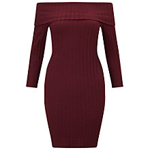 Buy Miss Selfridge Ribbed Bardot Dress Online at johnlewis.com