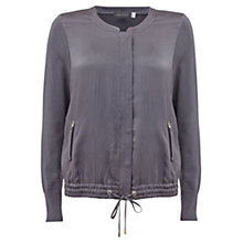Buy Mint Velvet Hammered Bomber Jacket, Grey Online at johnlewis.com