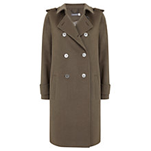 Buy Mint Velvet Wool Blend Military Coat, Green Online at johnlewis.com