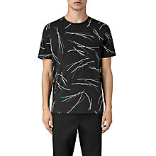 Buy AllSaints Moreland Abstract Graphic T-Shirt, Vintage Black Online at johnlewis.com