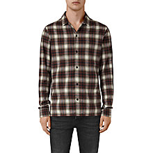 Buy AllSaints Orofino Check Slim Fit Shirt, Red Online at johnlewis.com