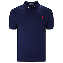 Buy Polo Ralph Lauren Soft-Touch Pima Cotton Polo Shirt, French Navy Online at johnlewis.com