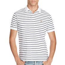 Buy Polo Ralph Lauren Custom Fit Striped Soft-Touch Pima Cotton Polo Shirt Online at johnlewis.com