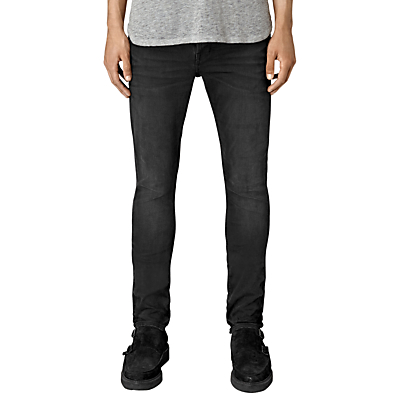 Image of AllSaints Dubh Cigarette Skinny Jeans, Black