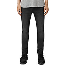 Buy AllSaints Dubh Cigarette Skinny Jeans, Black Online at johnlewis.com