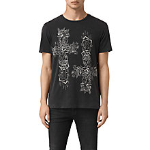 Buy AllSaints Void Graphic Print T-Shirt, Vintage Black Online at johnlewis.com