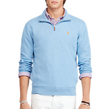 Buy Polo Ralph Lauren Half Zip Ribbed Fleece Jumper Online at johnlewis.com