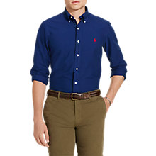 Buy Polo Ralph Lauren Button Down Pin Point Collar Shirt, Holiday Navy Online at johnlewis.com