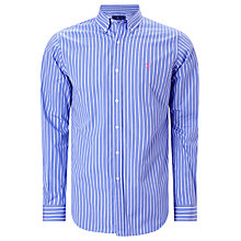 Buy Polo Ralph Lauren Striped Button-Down Poplin Shirt Online at johnlewis.com