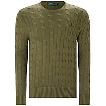 Buy Polo Ralph Lauren Cable Knit Crew Neck Jumper Online at johnlewis.com