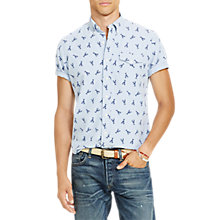 Buy Polo Ralph Lauren Standard Fit Button-Down Collar Shirt, Lobster Online at johnlewis.com