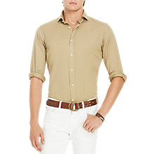 Buy Polo Ralph Lauren Standard Fit Cotton Twill Shirt, Luxury Tan Online at johnlewis.com