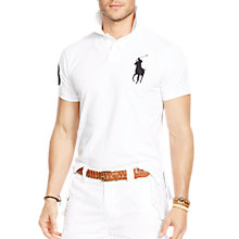Buy Polo Ralph Lauren 3 Patch Cotton Polo Shirt, White Online at johnlewis.com