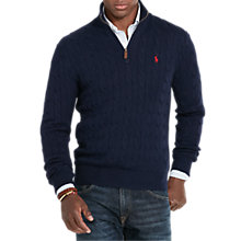 Buy Polo Ralph Lauren Long Sleeve Cable Half Zip Jumper Online at johnlewis.com
