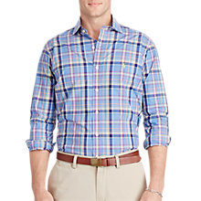 Buy Polo Ralph Lauren Poplin Medium Spread Collar Standard Fit Shirt, Steel Blue Online at johnlewis.com