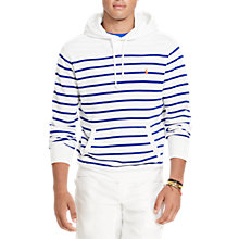 Buy Polo Ralph Lauren Striped Hoodie, White/Heritage Royal Online at johnlewis.com