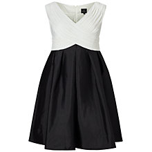 Buy Adrianna Papell Plus Tafeta Fit And Flare Dress, Black/Ivory Online at johnlewis.com