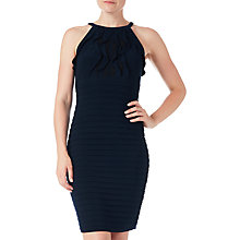 Buy Adrianna Papell Banded Chiffon Halter Neck Dress, Eclipse Online at johnlewis.com