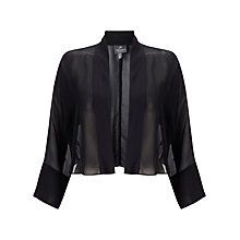 Buy Adrianna Papell Chiffon Jacket, Black Online at johnlewis.com