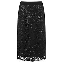 Buy Mint Velvet Embellished Lace Pencil Skirt, Black Online at johnlewis.com