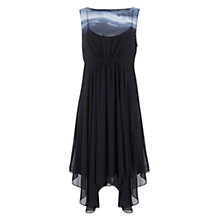 Buy Mint Velvet Sky Print Fluted Hem Dress, Multi Online at johnlewis.com