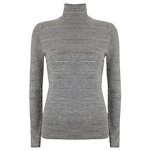 Buy Mint Velvet Slim Fit Polo Neck, Grey Online at johnlewis.com