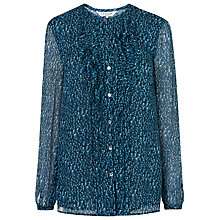 Buy L.K. Bennett Bryony Frill Detail Top, Multi Online at johnlewis.com