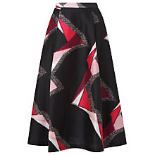 Buy L.K. Bennett Guilia Cotton Silk Skirt, Multi Online at johnlewis.com