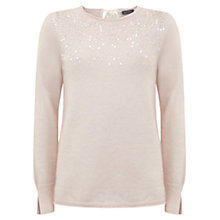 Buy Mint Velvet Sequin Knit, Pale Pink Online at johnlewis.com