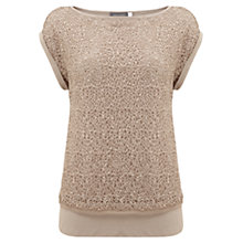 Buy Mint Velvet Lace T-Shirt, Neutral Online at johnlewis.com