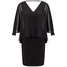 Buy Adrianna Papell Banded Chiffon Dress, Black Online at johnlewis.com