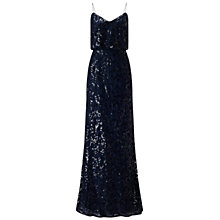 Buy Adrianna Papell Sequin Mesh Blouson Mermaid Dress, Midnight Online at johnlewis.com
