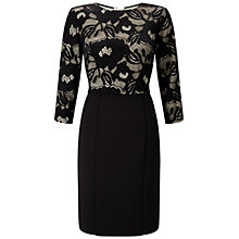 Buy Adrianna Papell Lace And Scuba Sheath Dress, Black/Oyster Online at johnlewis.com