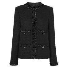Buy L.K. Bennett Chance Jacket, Black Online at johnlewis.com