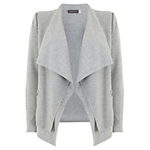 Buy Mint Velvet Rib Layered Cardigan, Grey Online at johnlewis.com