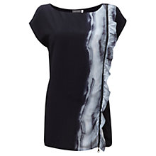Buy Mint Velvet Sky Print Ruffle Top, Multi Online at johnlewis.com