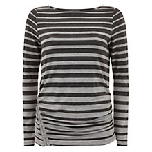 Buy Mint Velvet Graduated T-Shirt, Grey Stripe Online at johnlewis.com