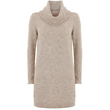 Buy Mint Velvet Cowl Neck Knitted Tunic, Neutral Online at johnlewis.com