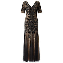 Buy Adrianna Papell Beaded Gown, Black Online at johnlewis.com