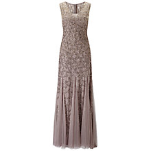 Buy Adrianna Papell Sleeveless Beaded Ombre Gown, Stone Online at johnlewis.com